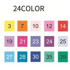 Набор STA  24 цвета акварельные маркеры