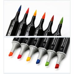Набор 24 цвета маркеров TOUCHNEW-кисть