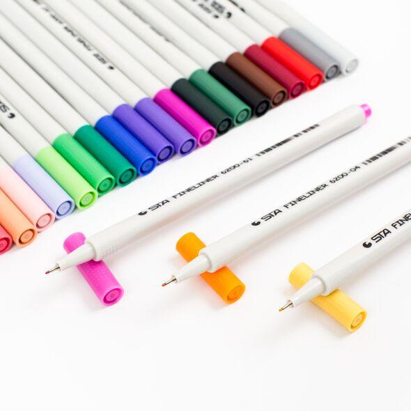 Набор капиллярных ручек STA 18 цветов
