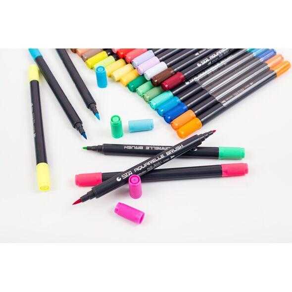 Набор STA 48 цветов акварельные маркеры
