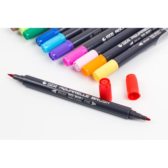 Набор STA  12 цвета акварельные маркеры (2)