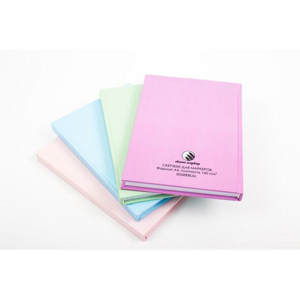 Скетчбук для маркеров А5, 60 листов (Пудровый) Твердая обложка