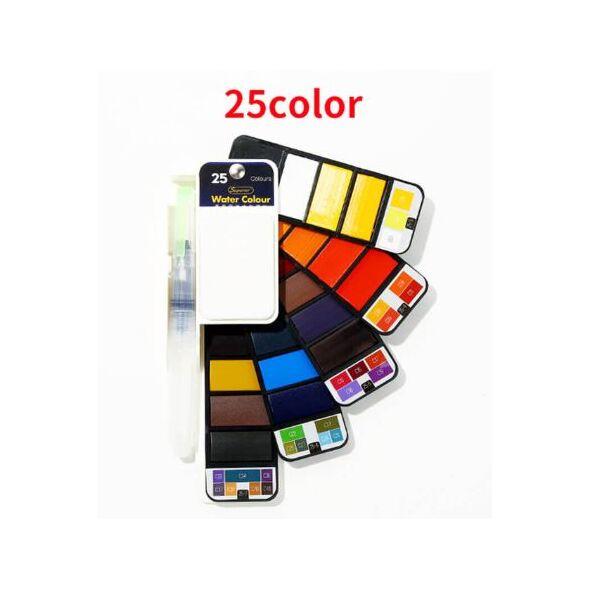Краски акварельные Superior 25 цветов (палитра Стандарт)